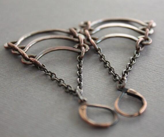 Egyptian cascade copper chandelier earrings with handmade arches - Chandelier earrings - Copper earrings - Statement earrings - ER006