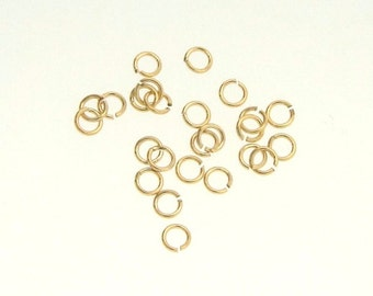 25pcs 14K Gold Filled 3mm Open Jump Rings, Made in USA, GF7