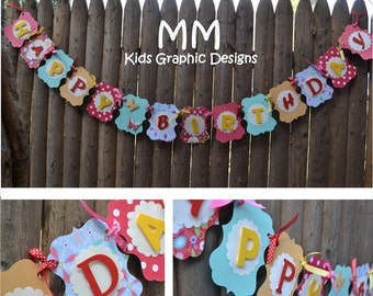 Custom Happy Birthday Banner - Personalized