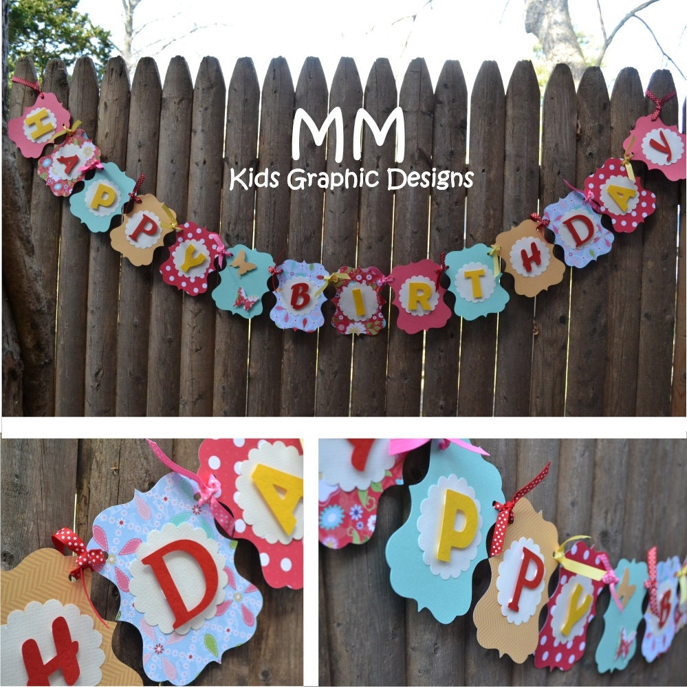 Custom Happy Birthday Banner Personalized By MMKids On Etsy