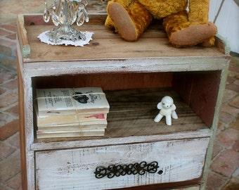 READY to SHIP - Nightstand - Rustic Home Decor - Table - Handmade - Honey's Treasures - Wooden Furniture - Reclaimed Wood - Honeystreasures
