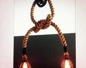 Manila Rope Pulley light