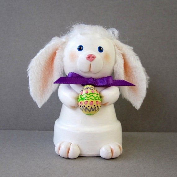 Easter Bunny Bell Ornament