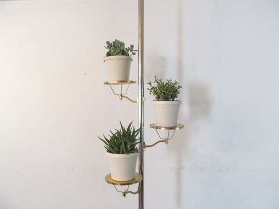 Mid Century Tension Pole With Shelves By Daveysvintage On Etsy
