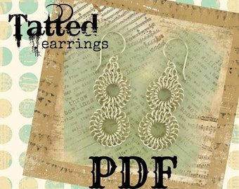 Tatted Lace Earrings PDF - Basic Instructions - DIY Tutorial
