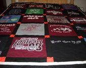 Graduation  Custom Order T Shirt Quilt   50  .00 deposit only  by fabricartist21