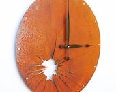 Shattered Metal, Large Wall Clock, Rusted Wall Clock, rustic wall clock, unique wall clock, modern wall clock, steampunk wall clock