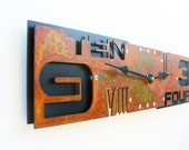 Outnumbered IV, Large Wall Clock, Rusted with Black Background, rustic wall clock, unique wall clock, modern wall clock, steampunk clock