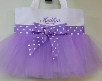 Dance bags, ballet bag, tutu tote bag,Tutu Bag, White wedding tote bag, Personalized tote bag, Naptime 21, MINI Tutu Tote Bag, MTB213  BP