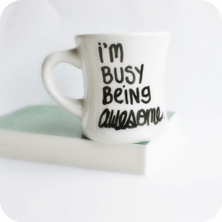 awesome funny mug coffee tea cup diner mug black by
