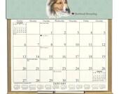 2016 CALENDAR - Shetland Sheepdog  (Sheltie) Dog Wooden  Calendar Holder filled with a 2016 calendar & an order form page for 2017.