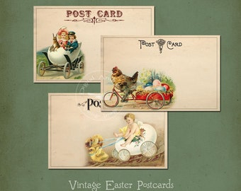 Vintage Easter Postcards Instant Digital Download