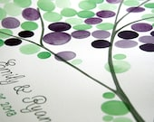 Custom Wedding Tree Guest Book Alternative - 150 guest signatures Large Custom Watercolor guestbook, Guest book registry, tree of life