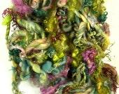 Mimosa and Moss Art Yarn Hanging Wall Piece