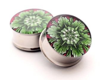 Filigree STYLE 3A Picture Plugs gauges - 16g, 14g, 12g, 10g, 8g, 6g, 4g, 2g, 0g, 00g, 7/16, 1/2, 9/16, 5/8, 3/4, 7/8, 1 inch