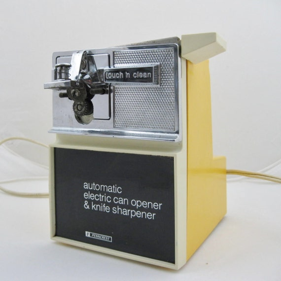 Yellow Electric Can Opener And Knife Sharpener By By