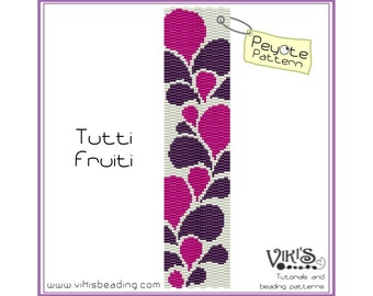 Peyote Pattern: Tutti Fruiti bracelet - INSTANT DOWNLOAD pdf -Discount codes are available