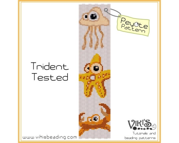 Peyote Bracelet Pattern: Trident Tested - INSTANT DOWNLOAD pdf - New Discount codes