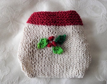 Baby Diaper Cover Hand Knitted Holiday Themed Diaper Cover  Your Choice of St. Patrick's Day Valentine's Day or Christmas  Children Clothing