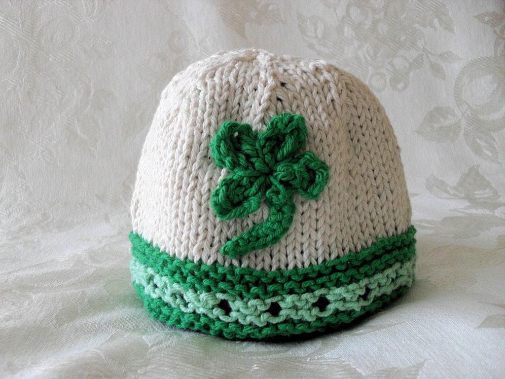 Knitted Hat Pattern Baby Hat Pattern Knitted Irish Beanie