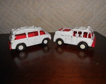 1960s Tootsie Toy Emergency Rescue Vehicles set of 2