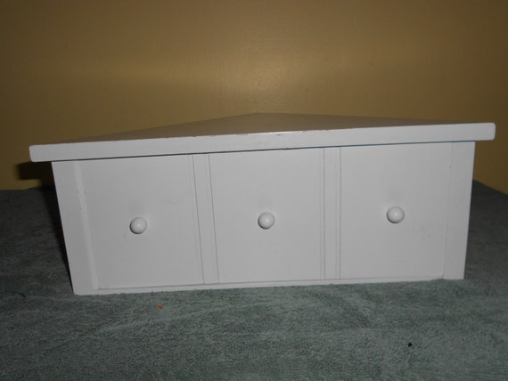 corner shelf with drawer cottage chic by pamscrafts7631 on. Black Bedroom Furniture Sets. Home Design Ideas