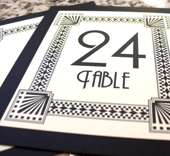 CUSTOM for Essence 16 Art Deco Table Numbers