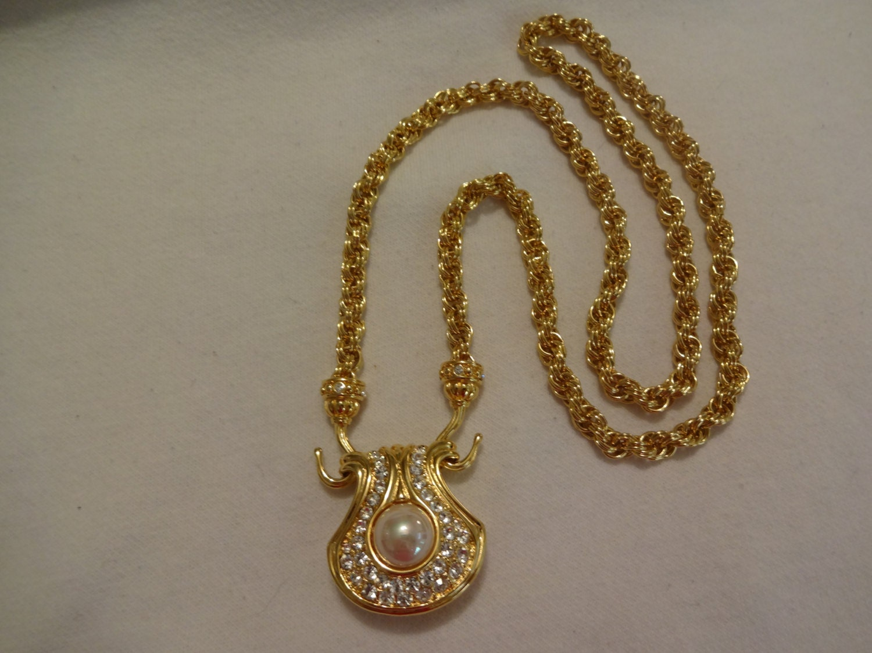 sale vintage nolan miller pendant style necklace faux by