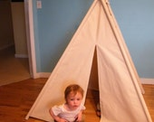 Natural Canvas  Choose Your Colors Teepee  Free US Shipping