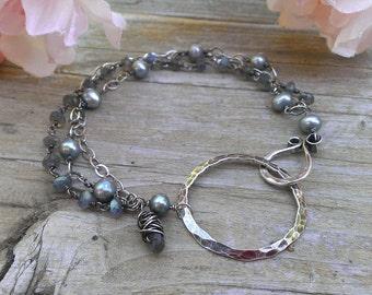 Multi-Strand Link Bracelet with Gemstone Charm - 2013 Primetime Emmys Gift Lounge