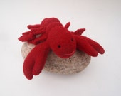 lobster, toy lobster, waldorf toy, all natural waldorf toy, all natural toy, eco friendly toy, toy plush fish
