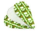 HALF OFF SALE Tear Drop Thong Liner Set in Toon Frog - Set of 3 Reusable Cloth Liners