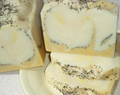 Fresh Lemon Poppy Seed Soap / Essential Oil Soap / Cold Process Soap