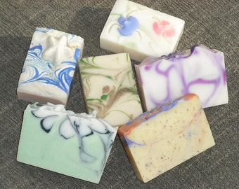 6 Soaps for 30 DOLLARS- Artisan Soap-Cold Process Handmade Soap-Priority Mail