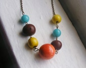 Colorful Beaded Necklace. Statement Necklace. Gumball Necklace. Modern Necklace. Beaded Necklace