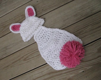 Crochet Newborn Bunny photo prop Newborn Photo Prop bunny beanie bunny photo prop crochet baby hat newborn bunny set newborn bunny prop