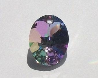 Swarovski crystal Pendant 18mm Oval Pendant -- VITRAIL LIGHT -- 1 piece