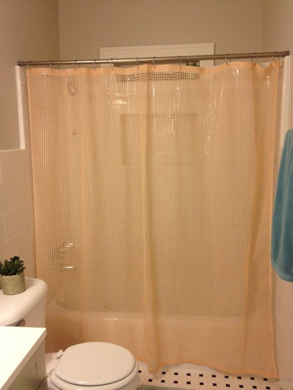 peach colored shower curtains