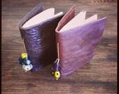 Bookbinding Kit - Make 2 Leather Pocket Note Books - Wee Green Press (KIT)