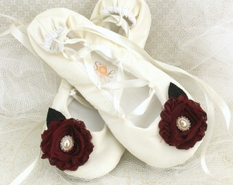 Ballet Flats, Bridal, Wedding, Shoes, Flats, Lace Up, Maid of Honor, Satin, Ivory, Cranberry, Red, Black, Pearls, Satin, Crystals, Elegant