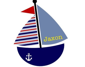 Personalized Bodysuit or Tee, Sailboat