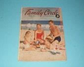 Vintage Family Circle Magazine August 1952 - 5 Cent Cover Price - Art- Scrapbooking - Retro Vintage Ads