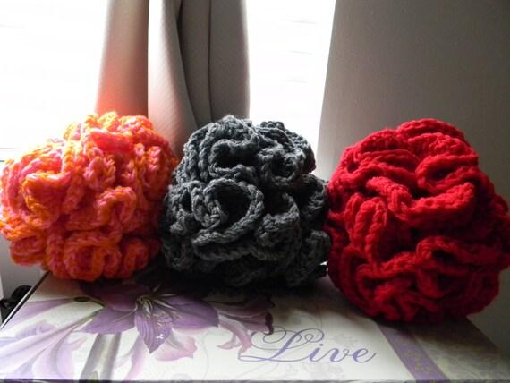 Custom listing for Sophie only - set of 3 Big Crazy Balls - Grey red pink/orange