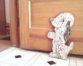 Vintage Primative Wooden DOG Weathered Charm for Indoors