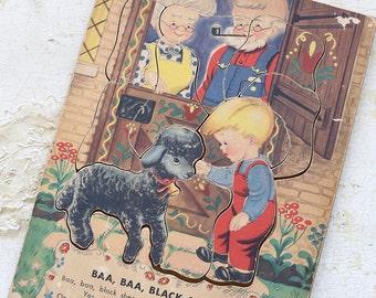 vintage wooden puzzle