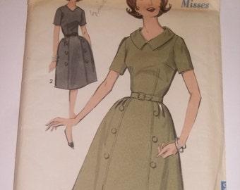 Vintage Advance Belted Dress Pattern / 1950's / UNCUT