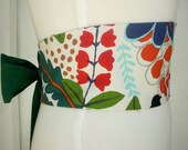 Obi Style Belt - in FLORA AND FAUNA - Womens belt sash - Japanese inspired