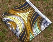 African Wax Cotton Print Fabric - African Daviva Fabric - Ankara Fabric - Nutmeg