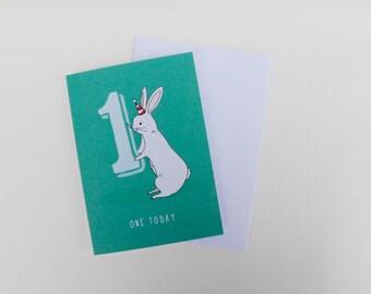 Age 1 - Happy Birthday Bunny