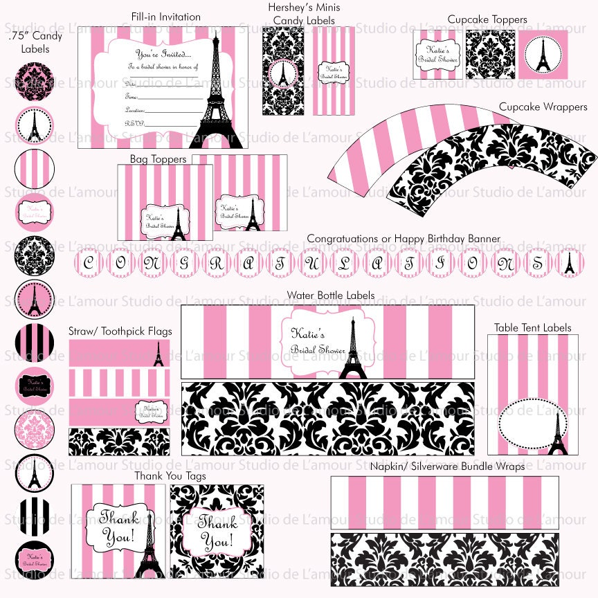 Paris Themed Birthday Invitations for luxury invitation design